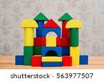 wooden decks royal castle | Shutterstock . vector #563977507