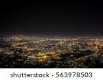 night cityscape  chiang mai... | Shutterstock . vector #563978503