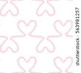 seamless nautical romantic rope ...   Shutterstock . vector #563981257