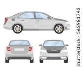 car vector template on white... | Shutterstock .eps vector #563981743