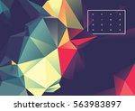 vector of modern futuristic... | Shutterstock .eps vector #563983897