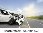 car of accident make front... | Shutterstock . vector #563984467