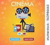 movie cinema premiere poster... | Shutterstock .eps vector #563986663