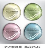 abstract vector banner set of 4.... | Shutterstock .eps vector #563989153