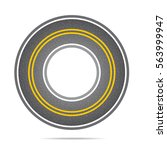 highway in a circle with... | Shutterstock .eps vector #563999947
