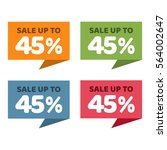 45  off. sale and discount... | Shutterstock .eps vector #564002647