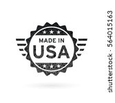 made in usa icon concept badge... | Shutterstock .eps vector #564015163