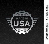 made in usa icon concept badge... | Shutterstock .eps vector #564015253