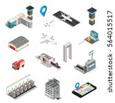 isometric airport travel and... | Shutterstock .eps vector #564015517