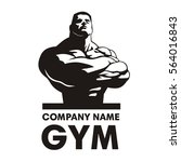 gym logo vector  bodybuilder... | Shutterstock .eps vector #564016843