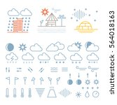 mega pack of weather icons with ... | Shutterstock .eps vector #564018163