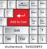 computer keyboard with add to... | Shutterstock .eps vector #564020893