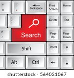 computer keyboard with search   ... | Shutterstock .eps vector #564021067