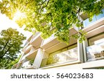 windows of modern white... | Shutterstock . vector #564023683