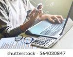 online banking payment... | Shutterstock . vector #564030847