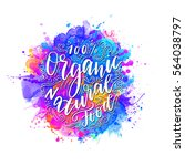 vegetarian eco concept organic... | Shutterstock .eps vector #564038797