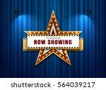 theater sign star shape on... | Shutterstock .eps vector #564039217