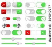 toggle switch set  light theme. ...