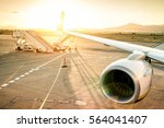 airplane at international... | Shutterstock . vector #564041407