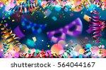celebration. dark blue holiday... | Shutterstock .eps vector #564044167