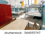 metal locker  table and double... | Shutterstock . vector #564055747