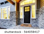 front covered porch design... | Shutterstock . vector #564058417