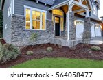 front covered porch design... | Shutterstock . vector #564058477