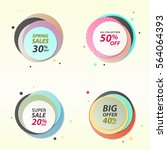 set of banner circle shapes in... | Shutterstock .eps vector #564064393