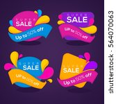 super sale  vector collection... | Shutterstock .eps vector #564070063