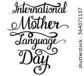 lettering   intarnational... | Shutterstock .eps vector #564071137