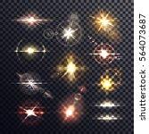 lens sun or star flare light... | Shutterstock .eps vector #564073687