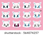 Cute Cats Smiley Vector