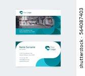 vector creative business card... | Shutterstock .eps vector #564087403