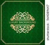 invitation vintage card. golden ... | Shutterstock .eps vector #564089647