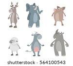 vector illustration of a six... | Shutterstock .eps vector #564100543