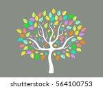 vector illustration of abstract ... | Shutterstock .eps vector #564100753