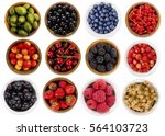 collage of different fruits and ... | Shutterstock . vector #564103723