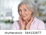 mature woman portrait happy ang ... | Shutterstock . vector #564132877