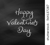vector valentines day card.... | Shutterstock .eps vector #564137287