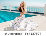 beautiful blonde young sexy... | Shutterstock . vector #564137977