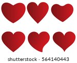red heart vector icon... | Shutterstock .eps vector #564140443