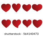 red heart vector icon... | Shutterstock .eps vector #564140473