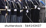 armed officers of the italian... | Shutterstock . vector #564143437