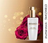 skin toner bottle tube template ... | Shutterstock .eps vector #564154813