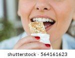 portrait of beautiful young...   Shutterstock . vector #564161623