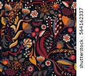 floral seamless pattern. hand... | Shutterstock .eps vector #564162337
