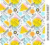 seamless 1980s inspired graphic ... | Shutterstock .eps vector #564164887
