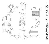 set of baby icons. supplies for ...   Shutterstock .eps vector #564165127