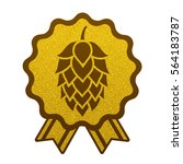 hop gold brewery beer icon flat ... | Shutterstock .eps vector #564183787