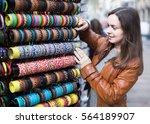 Female Customer Buying Things...